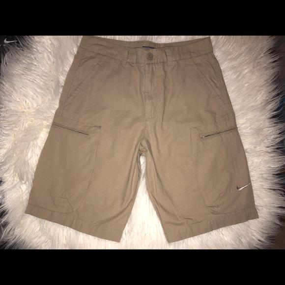 d9b89215ce Nike Shorts | Mens Woven Khaki Cargo | Poshmark
